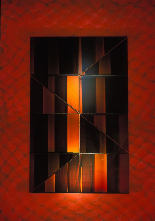 Liliane Lijn Illusory Webb Hologram piece